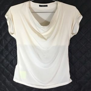 Etro Womens Cream Silk Cap Sleeve ZIP Blouse 4